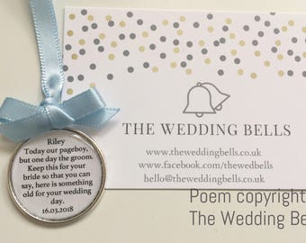 Personalised Page Boy Ring Bearer Usher Keep Sake Something Old
