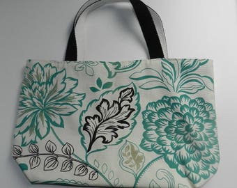 Floral fabric tote bag