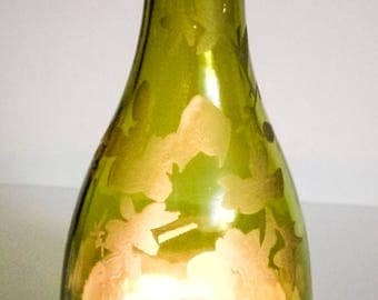 Engraved Wine Bottle Candle Cover