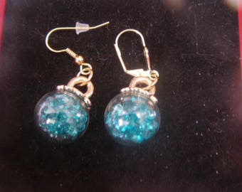 Stud Earrings bubble glass globes
