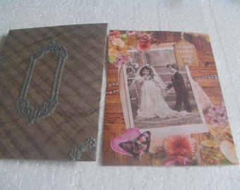 vintage anniversary card and envelope