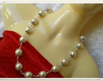 beautiful synthetic pearl beads necklace
