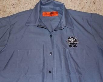 XL Pabst Mechanic's Shirt-Retro Beer