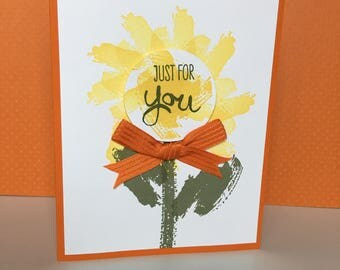 Just for you card - Card for you - Handmade card