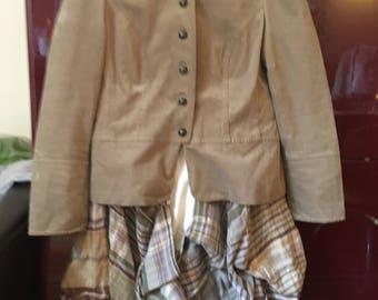 Upcycled bustle jacket