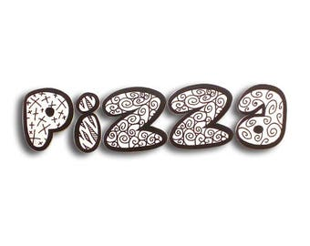 Pizza - Pizza sign, shop sign, 3D letters, food sign, bar sign, wall letters, wall sign, letter sign, sign | Tropparoba - 100% made in Italy