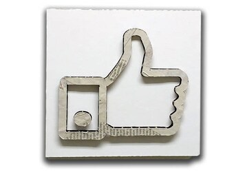 Like - Social sign, social icon, sign, collage sign, wall sign, wall decor, vintage sign, shabby sign | Tropparoba - 100% made in Italy