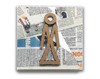 Ladies - Restroom door sign, restroom sign, restroom decor, toilet sign, wc sign, wc plaque, toilet icon | Tropparoba - 100% made in Italy