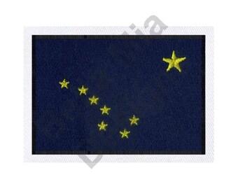 Alaska Flag - Machine Embroidery Design