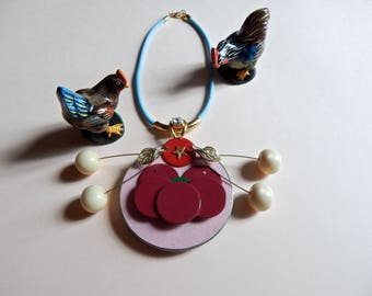 cherries necklace
