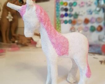 Sparkle Unicorn Figure/Glitter Unicorn/Magical Unicorn/Pink Unicorn/Rainbow Unicorn