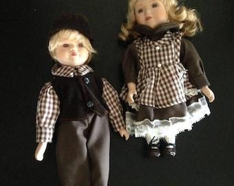 Vintage Boy & Girl Dolls