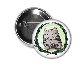 """Unhappy cat 1"""" Pin/Macaron"""