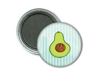 "Hangry Avocado 1"" Magnet/Avocat Frustré Aimant 1"""
