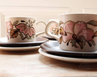 Vintage Royal Worcester Palissy Tea Set - Lotus Pattern
