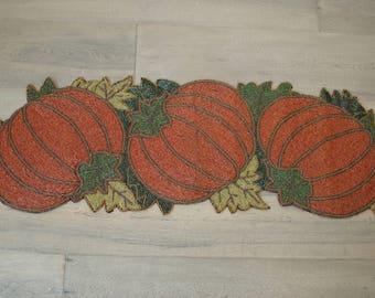 table runner handmade, table runner wedding, table runner pumpkin, table runner red, beaded table runner, table runner rustic, nature runner