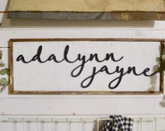 Framed Custom Name Sign