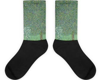 Gustav Klimt, Rosebushes under the Trees - Socks