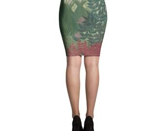 Henri Rousseau, The Waterfall - Pencil Skirt