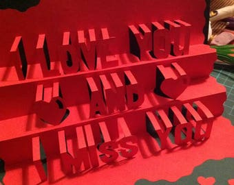 Handmade 3D pop-up greeting cards