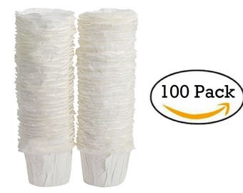 Paper Keurig Compatible Single-Serve Disposable Paper Filters (100) Count
