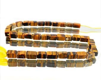 "Golden Tiger Eye Strand of 15"" Inches"