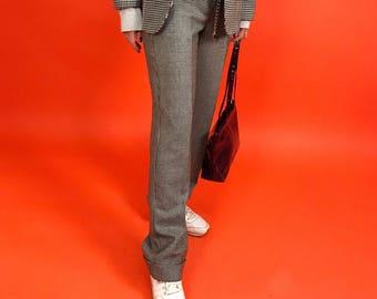 Herringbone wide leg pants S/M