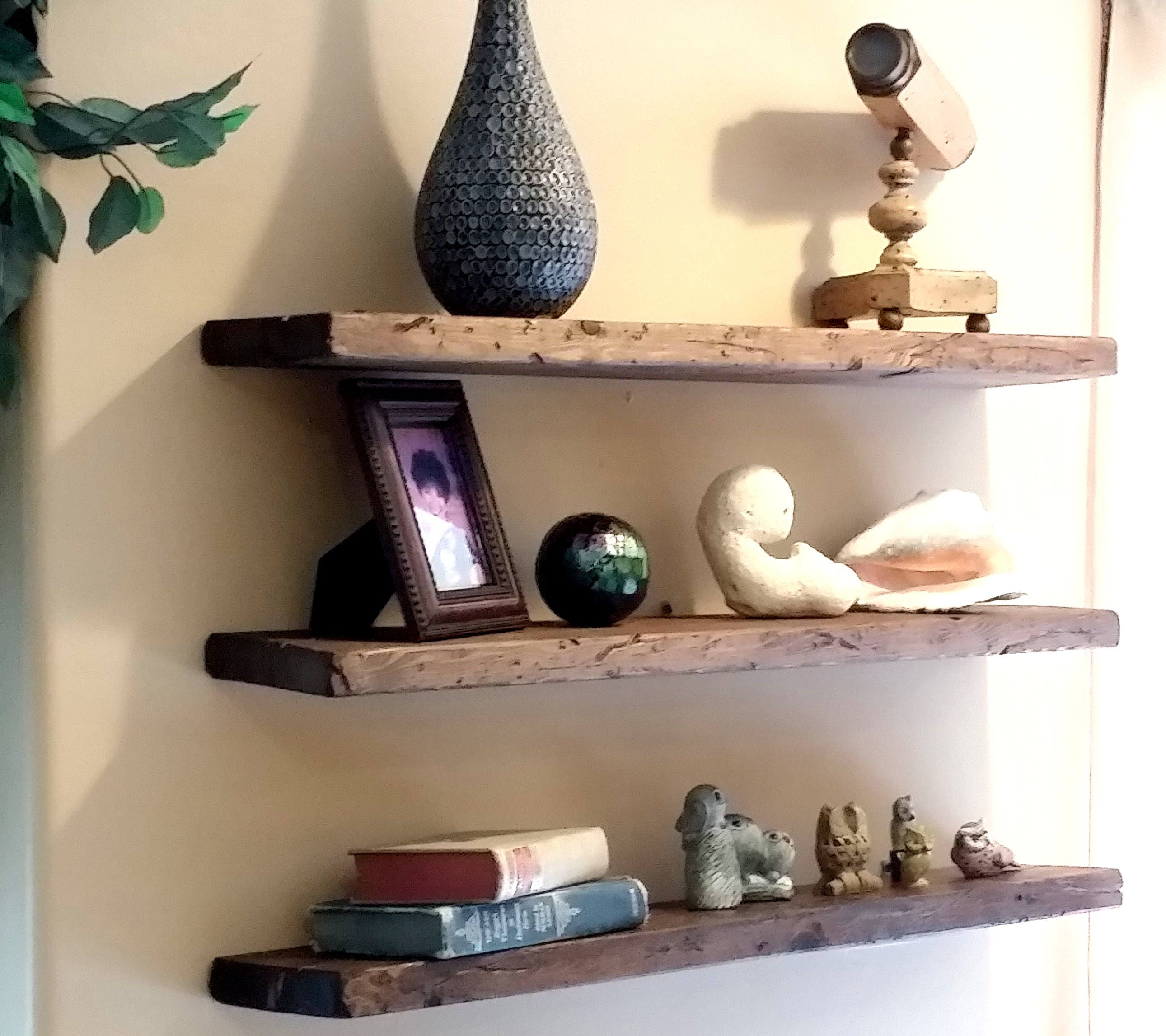 Design Wood Shelves For Walls any length floating shelves reclaimed wood shelf easy mount rustic reused solid