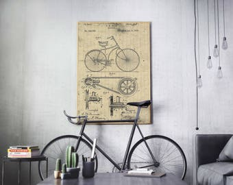 Bicycle Patent, Bicycle , Bicycle Invention Patent, Bicycle Poster, Bicycle Print, Bicycle Inventions