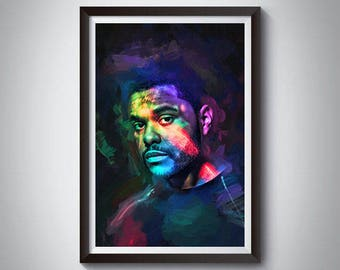 Hip Hop Inspired Art Poster Print, The Weeknd, Rap Poster, The Weeknd Poster 2