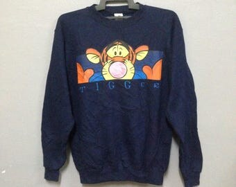 Rare!! Vintage The Disney Store Tigger Sweatshirt Made in USA Small Size