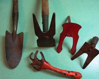 Vintage Garden Trowel Hand Rake Hoe Vintage Yard and Garden Implements