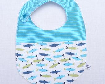 """bavoir bébé 0/24 mois """"poissons"""""""