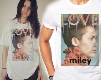 Mens Miley Cyrus Love Corner - White T-Shirt As Worn By Kendall Jenner