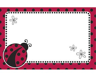 50 Gift  Tags, Florist Blank Enclosure Cards ,Small  Hang Tags Crafts , Lady Bugs