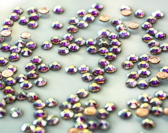 Swarovski Crystals Flat Back 2088 AB - Hot Fix - SS16 (3.0 - 40 mm) Aurora Boreale , Pack of 50 pcs