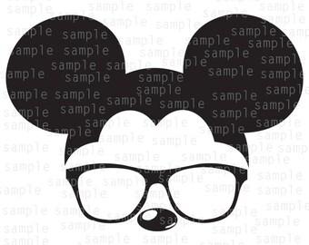 Inspired Mickey glasses, clear, SVG, JPG, PNG, download files, svg files, Mickey Mouse svg, Disney svg , Mickey svg, Disneyland svg