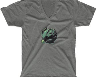 Baby is the size of an... Artichoke! 18 Weeks Maternity V-Neck T-Shirt