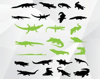Alligator svg,png,jpg/Alligator clipart for Print,Design,Silhouette,Cricut and any more