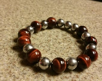 Red Tigers Eye and Hematite