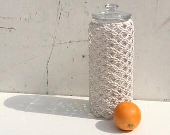 Macramé cylinder