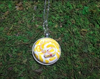 Albino Ball Python snake medallion- Made to order