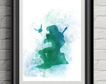 Legend of Zelda inspired print, wall art, kids decor