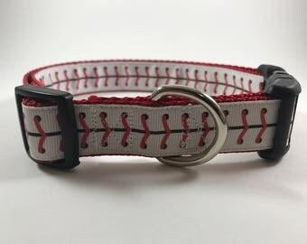 Baseball Dog Collar