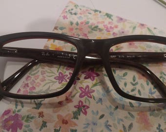 Ray Ban Eye glasses, black w/wood grain pattern, New Old Stock