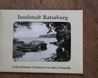 Vintage Souvenir Black and White Photographs Ratzeburg, Germany
