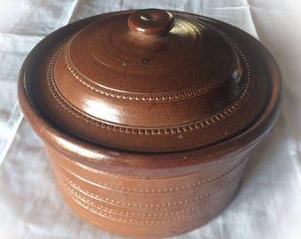 Stoneware glazed Lidded earthenware Corneau Myennes