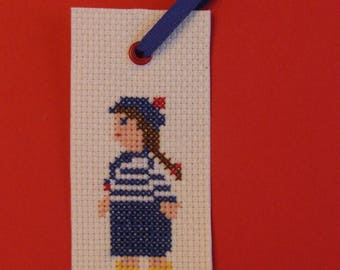 Embroidered bookmark Moussaillon