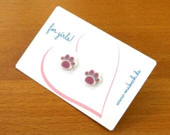Girl children jewelry ear studs earrings 925 Silver shoes