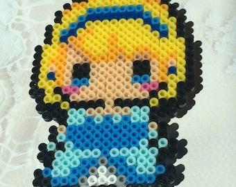 Cinderella Perler Bead Magnet